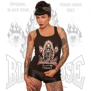 Blackrose Clothing Promo Girls Strappy top Gothic Nun print
